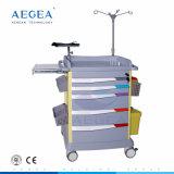 Gebrauch-Emergency Laufkatze des Krankenhaus-AG-Et017 mit Fächern