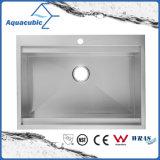 Cupc Aquacubic pia de cozinha artesanal em aço inoxidável (ACS3022A1T)