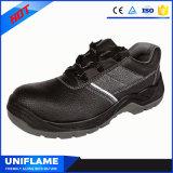 Sapatas de segurança de aço Ufa075 do trabalho dos homens do tampão do dedo do pé