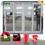 Prix de la porte de la salle de bain UPVC / PVC avec des stores à l'intérieur