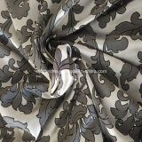 Tecido de cortina de prata de alta deformação de urdidura