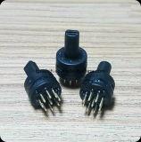9mmの音声のための2-8位置の小型ロータリースイッチ
