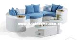 Neues Auslegung-Sofa-gesetzte aus Weiden geflochtene im Freiengarten-Möbel Bp-873c