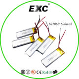 Battery 재충전용 Li 이온 502060 600mAh 3.7V Headphone Lithium Battery