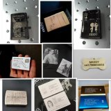 20W 30W 50Wの金属のためのプラスチックリングの電話箱のファイバーレーザーのマーキング機械