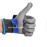 Корпус из нержавеющей стали двойных слоев металлической сетки рабочие перчатки