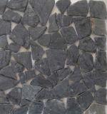 装飾のための黒い浴室の庭の花こう岩のタイル