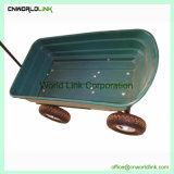 Vagón de la mano de plástico verde jardín Carrito para transportar