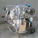 Máquina de ordenha de vacas de vácuo eléctrica caçambas duplo transparente