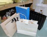 Papel blanco impreso personalizado Bolsas con su propio logotipo, Cmyk Arte impreso de la bolsa de papel Bolsa con Logo