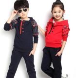 Maglietta felpata Hoodies del vestito di pista di modo di svago in vestiti Swg-126 dei bambini