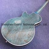 Double F-отверстия пламя Maple верхней голубой электрическая гитара (НЛП-343)