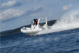 Aqualand 19feet 5.7m Fiberglas-Sport-Bewegungsboot/steifes aufblasbares Tauchen-Boot/Rettung/Patrouille (RIB570B)