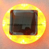 Solar plástico del Camino Stud / LED de los ojos de gato Tráfico Light Cone