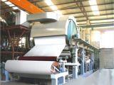 Papel higiénico del tejido de 5 toneladas que hace tejido de cuarto de baño de la máquina la máquina de la fabricación de papel para el mejor precio