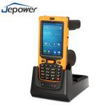 Frequenza ultraelevata PDA tenuto in mano di NFC interurbana RFID con lo scanner del codice a barre
