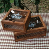 Kundenspezifischer Paulownia hölzerner verpackenkasten mit graviertem Firmenzeichen für Tee-Verpackung