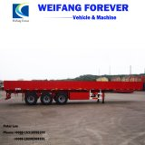 側面の取り外し可能な容器の貨物輸送のトラックの半平面トレーラー