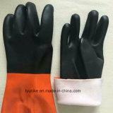 2つのカラーオイルの抵抗力がある滑り止めの働く手袋