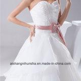 Новый отбортовывать шнурка Tulle робы платья венчания прибытия