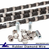 11.5mm fil diamanté en caoutchouc avec Diamant fritté de Perles pour les carrières de marbre granit de grès et de l'Onyx