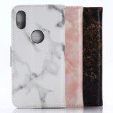 Caja de mármol del teléfono de la carpeta de la PU para el iPhone Samsung Huawei
