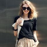 Premium de algodón de bambú blusa de mujer