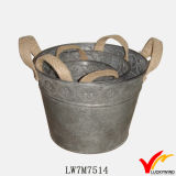 Sturbridge Vintage Decorativo Metal Pots para plantas interiores