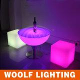 Mobilia calda del cubo del salone dell'indicatore luminoso LED