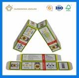 Rectángulo de empaquetado de papel plegable impreso Cmyk modificado para requisitos particulares de la cartulina para los productos médicos (petróleo medicinal)