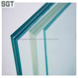 10.38mm Low Iron Laminated Glass con Polish Edge