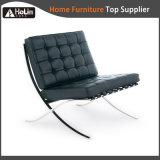 O design clássico de Aço Inoxidável Lazer Salão de couro Barcelona Cadeira Sofá