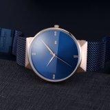 Men's Watch logo OEM personnalisé Diamond Watch Watch minimaliste Japon Regarder la bande de maille de mode de mouvement