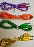 Ordinateur colorée du câble numérique audio jack 3,5 mm