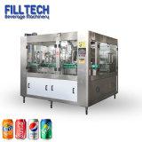 La spremuta automatica della latta ha carbonatato la macchina di riempimento d'inscatolamento imbottigliante del pacchetto dell'imballaggio del liquido puro dell'acqua della birra della bevanda della bevanda