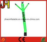 Danseur vert au néon gonflable d'air d'homme fait sur commande de danse pour annoncer la décoration