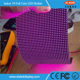 Módulo flexible a todo color de interior de P4 LED con la FCC