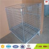 Recipiente de malha de arame / gaiola de armazenamento empilhável / cesta de metal