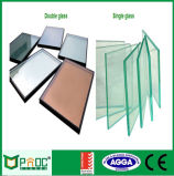 Het aluminium Vaste Venster van de Hoek met het Blauwe Glas van de Doorwaadbare plaats