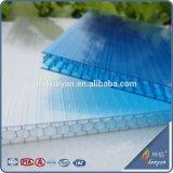UV en polycarbonate alvéolaire cellulaires protecteurs PC Feuille creux