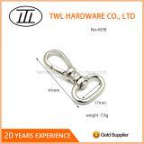 Placage métallique Crochet mousqueton pivotant pour sac à main du crochet de l'anneau