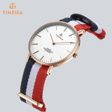 La mode sangle en Nylon Dos en acier inoxydable style Daniel Wellington Watch