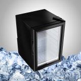 De zwarte MiniDeur van het Glas van de Koelkast voor de Vertoning van de Drank