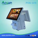 POS-A15 Windows 인쇄 기계를 가진 인조 인간 접촉 스크린 전자 금전 등록기