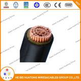 Câble d'alimentation de cuivre d'armure de fil d'acier