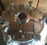 Acero inoxidable Manway redondo sanitario con el vidrio de vista