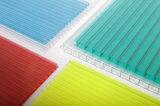Feuille 100% jumelle bleue de cavité de polycarbonate de Bayer de feuille de PC de mur avec la protection 50um UV