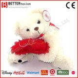 Ours de jouet de peluche de Valentine pour la fille