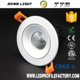 Ty8 Aluminio 15W Downlight LED para iluminación