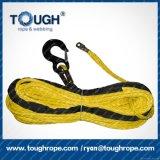 電気ウィンチのためのUHMWPE Dyneemaのファイバーの編みこみのロープ